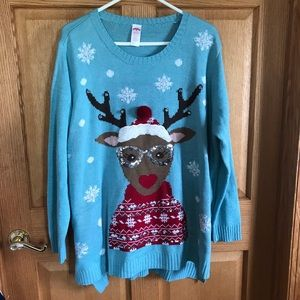 Holiday time, reindeer sweater size 4 X
